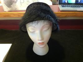 Elegant Ladies Vintage Black Hat with black border 10 Inches Big image 2