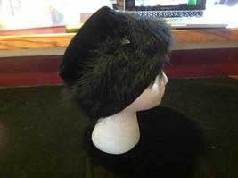 Elegant Ladies Vintage Black Hat with black border 10 Inches Big image 5