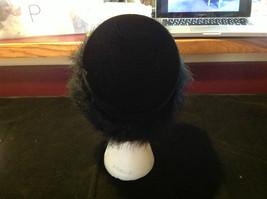 Elegant Ladies Vintage Black Hat with black border 10 Inches Big image 6