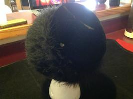 Elegant Ladies Vintage Black Hat with black border 10 Inches Big image 7