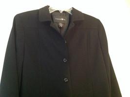 Elegant Francess and Rita Black Button Up Pocketed Blazer Front Pockets Size 6 image 2
