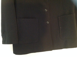 Elegant Francess and Rita Black Button Up Pocketed Blazer Front Pockets Size 6 image 3