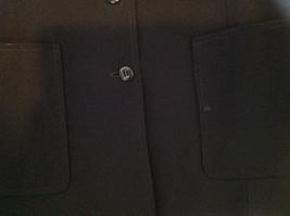 Elegant Francess and Rita Black Button Up Pocketed Blazer Front Pockets Size 6 image 4