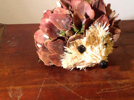 Five Inch Medium Hedgehog Decoration Cute for Display All Natural Materials image 7