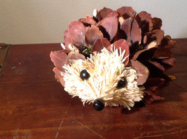 Five Inch Medium Hedgehog Decoration Cute for Display All Natural Materials image 8