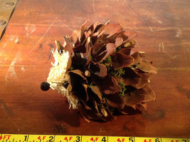 Five Inch Medium Hedgehog Decoration Cute for Display All Natural Materials image 9