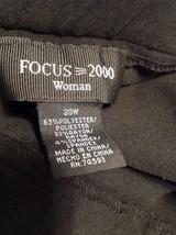 Focus 2000 Woman Black Slacks Size 20W image 4