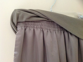 Forever 21 Tan Flow Pants with Fold Over Fabric Waistband Pockets Size Medium image 3