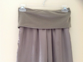 Forever 21 Tan Flow Pants with Fold Over Fabric Waistband Pockets Size Medium image 2
