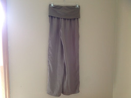 Forever 21 Tan Flow Pants with Fold Over Fabric Waistband Pockets Size Medium image 7