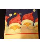 Four Santa Claus Heads Snowflakes Fiddlers Elbow Christmas Dish Towel Co... - $39.99