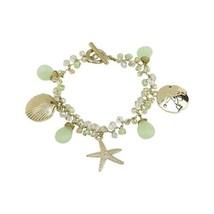 Elly Preston Coastal Charm Bracelet w Starfish Sand Dollar Sea Shell image 2