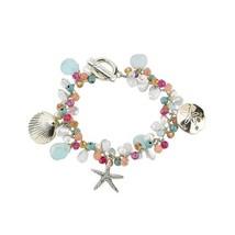 Elly Preston Coastal Charm Bracelet w Starfish Sand Dollar Sea Shell image 3