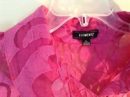 Elemeniz Size XL Pink See Through Long Sleeve Button Down Blouse image 4