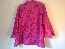 Elemeniz Size XL Pink See Through Long Sleeve Button Down Blouse image 5