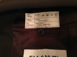 Emanuel Ungaro Dark Brown Jacket and Pant Suit 100 Percent Wool Size 42 by 36 image 7