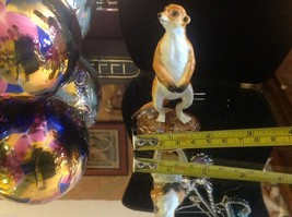 Enamel trinket box Meerkat standing up with crystals and gold detail image 9