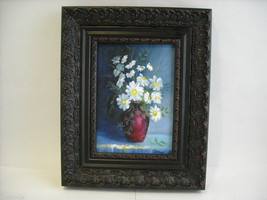 Framed Giclee print still Daisies Canvas Painting Hudson Valley art St. Leger image 2