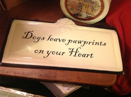 Enameled Sign Dogs Leave paw prints on your heart image 3