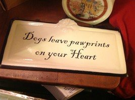 Enameled Sign Dogs Leave paw prints on your heart image 2