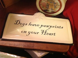 Enameled Sign Dogs Leave paw prints on your heart image 4