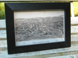 Framed Reproduction map of Fishkill on the Hudson 1886 image 2