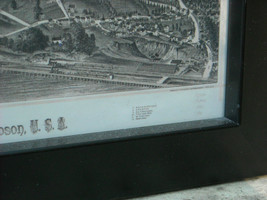 Framed Reproduction map of Fishkill on the Hudson 1886 image 6