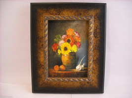 Framed Giclee print still Sunflowers Canvas Painting Hudson Valley art St. Leger image 2