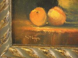 Framed Giclee print still Sunflowers Canvas Painting Hudson Valley art St. Leger image 3