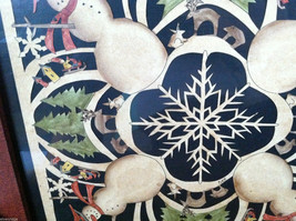 Framed Snowman Snowflake Kaleidoscope Christmas Paper Cutting Picture image 4