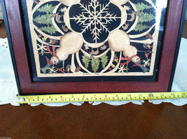 Framed Snowman Snowflake Kaleidoscope Christmas Paper Cutting Picture image 6