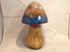 Enesco Tall Ceramic Mushroom Figurine Choice of Blue Cap OR Yellow Green Cap image 2