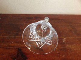 Etched Crystal Glass Bell with Handle Intricate Fragile image 4
