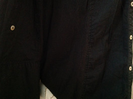 Essentials Black V Neckline Button Up Long Sleeve Shirt Made in China Size 18/20 image 5