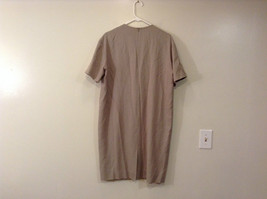 Evan Picone Natural Linen Gray Fully Lined Short Sleeve Dress Size 10 image 2