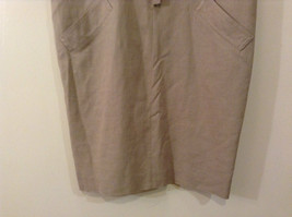 Evan Picone Natural Linen Gray Fully Lined Short Sleeve Dress Size 10 image 5