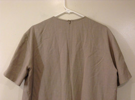 Evan Picone Natural Linen Gray Fully Lined Short Sleeve Dress Size 10 image 8