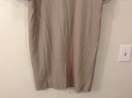 Evan Picone Natural Linen Gray Fully Lined Short Sleeve Dress Size 10 image 9