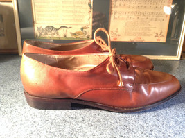 Enzo Angiolini Dress Shoes Brown Leather with Suede Top Size 9.5 Good Condition image 4