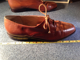 Enzo Angiolini Dress Shoes Brown Leather with Suede Top Size 9.5 Good Condition image 5