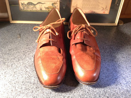 Enzo Angiolini Dress Shoes Brown Leather with Suede Top Size 9.5 Good Condition image 3