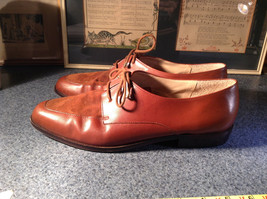 Enzo Angiolini Dress Shoes Brown Leather with Suede Top Size 9.5 Good Condition image 7
