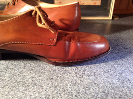 Enzo Angiolini Dress Shoes Brown Leather with Suede Top Size 9.5 Good Condition image 10