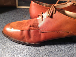 Enzo Angiolini Dress Shoes Brown Leather with Suede Top Size 9.5 Good Condition image 11