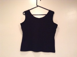 Extra Touch Black Sleeveless Tank Top Size 2X Scoop Neck Cotton Spandex Blend image 3
