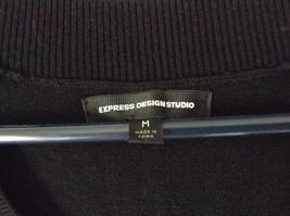 Express Design Studio Black Vest V Neck Sleeveless White Design Size Medium image 5