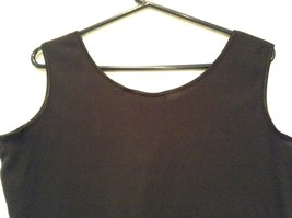 Extra Touch Black Sleeveless Tank Top Size 2X Scoop Neck Cotton Spandex Blend image 4