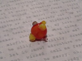 Funny Weird Looking Orange Clown Hand Blown Glass Mini Figurine Made in USA image 7