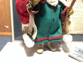 Fabriche Santa Claus Figurine Green with Bag Clothique Collectible image 3