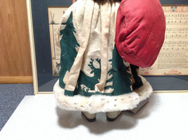 Fabriche Santa Claus Figurine Green with Bag Clothique Collectible image 5